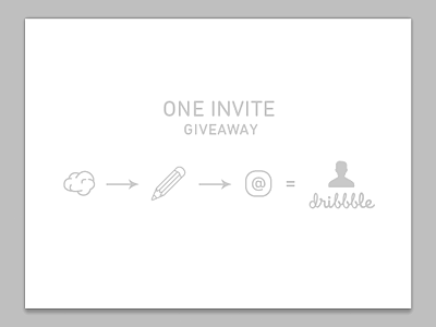 One-dribbble-invite-giveaway