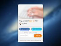 Chat App – Sign Up Form