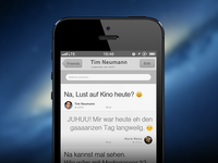 Chat App – iOS App – Chat screen #2