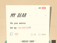 Do you wanna be my Valentine?