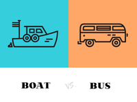 Boat vs. Bus