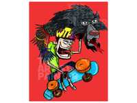 Mountainboard Romania Sticker and Poster