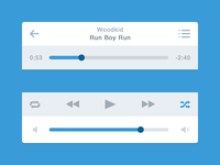Flat Music Player (iOS)
