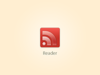Google Reader icon - FREE PSD
