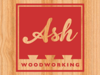 Ash Woodworking Logo on Wood