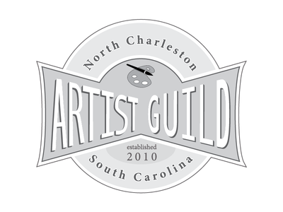 North Charleston Artist Guild Logo (grayscale)