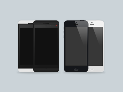 Download iPhone and BlackBerry Z10 PSD