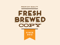 Fresh Brewed Copy logo concept 1
