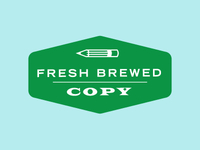 Fresh Brewed Copy logo concept 2