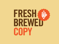 Fresh Brewed Copy logo concept 3