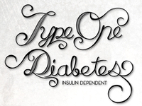 Type One Diabetes Tattoo - Vector
