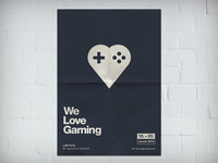 We Love Gaming Poster