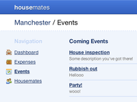 Housemates / Events