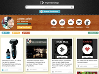 myendoshop homepage dashboard and feed