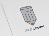 Trash Design Logo