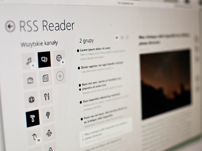 RSS Reader - Windows 8 Modern UI