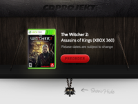 Witcher 2 Shelf - X360