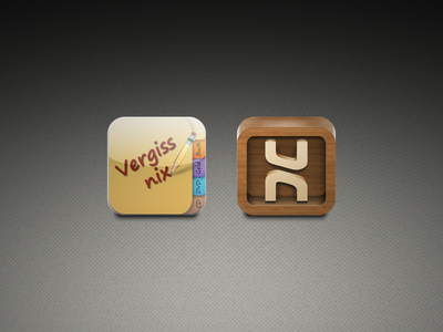 "Icon Redesign for ""Vergiss Nix 2.0"""