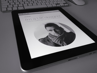 Personal portfolio concept on tablet