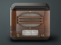 Vintage Radio iOS Icon