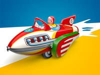 ROCKET RACER – making of