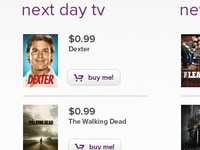 Next Day TV listing