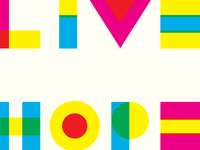Live, Hope, Love in CMYK