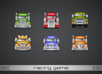 6 cars for Racing Game