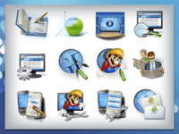 Set of 12 icons for MediaElements.net