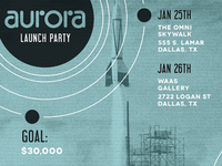Aurora Launch Poster
