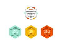 Marathon Training Badges