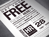Typographic Flu Shot Flyer