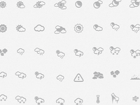 Weather Icons - Glyph Set