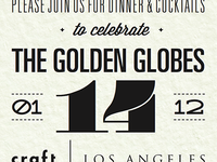 Golden Globe invitation