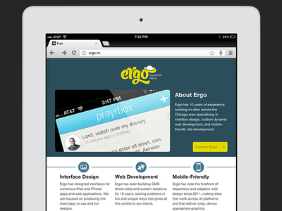 Ergo on iPad