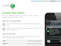 CLEAR SMS Sign Up Landing Page