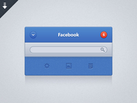 Facebook UI @x2 freebie