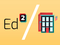 Ed Squared logo and illustration