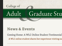 College Of Adult And Grad Studies