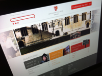 Wadham College Website Visual