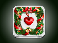 Christmas Wreath iOS Icon