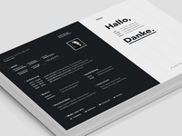 Resume / CV - screen version 2