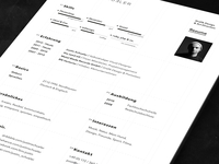 Resume / CV - print version