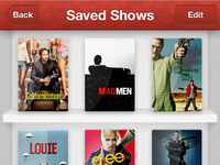 TV Show Shelf UI