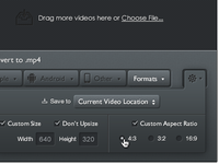 Miro Video Converter Settings
