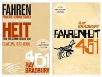 Fahrenheit 451 Covers, 60th Anniversary Edition