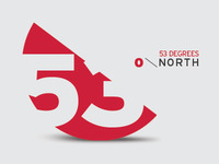 53 Degrees Logo Concept