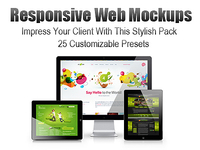 Responsive Web Screen Mockup