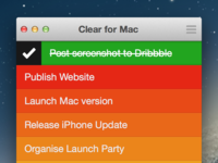 Clear for Mac UI