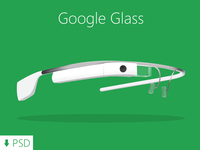 Google Glass - Freebie PSD